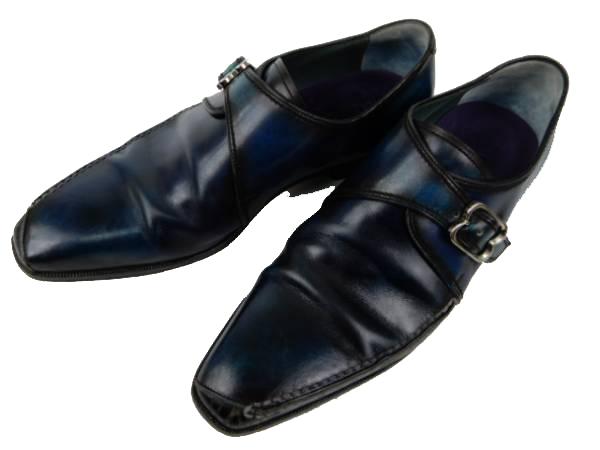 Berluti ベルルッティ 革靴 モンク カリグラフィ