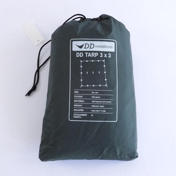 DD Hammocks ディーディーハンモックス DD TARP 3×3 タープ 190T オリーブグリーン