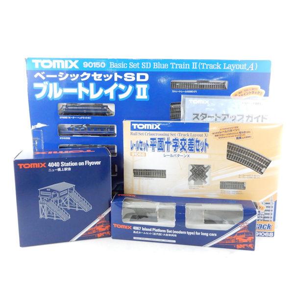 TOMIX(トミックス) 90150 パターンA/91068 パターンX 他 ブルートレイン2/平面十字交差セット/駅舎 4点 レール